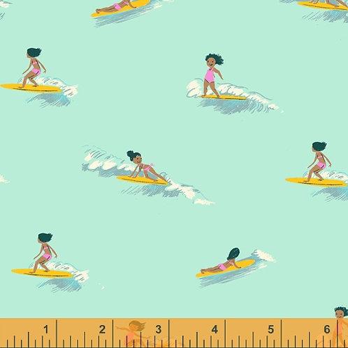 Heather Ross Malibu - Tiny Surfers in Sea Foam