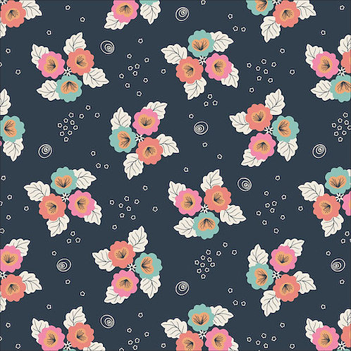 Cloud9 Monsoon Blossom in Black from Tropical Garden -  (£3.95fq/£15.80pm