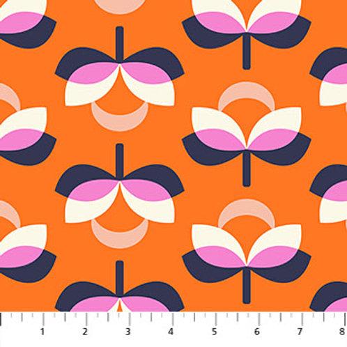 Figo Fabrics Butterscotch - Blooms in Orange by Dana Willard