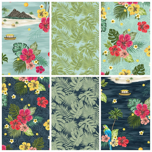 Windham Fabrics Isla Fat Quarter Bundle (6)