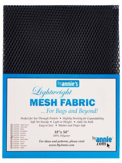 By Annie Mesh Fabric in Navy 1/2 Yard Package (18in x 54in)