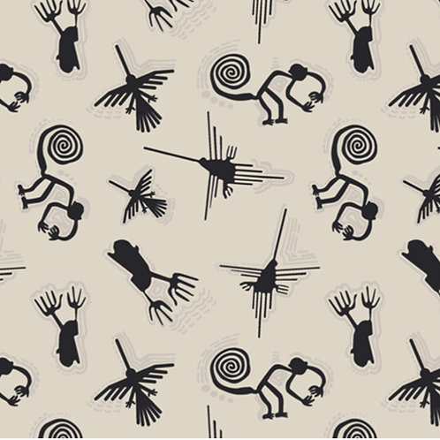 Nazca Lines from Andina by Art Gallery Fabrics (£3.60fq / £14.40pm)