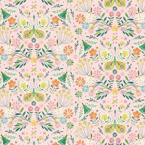Dashwood Studio Hedgerow Butterflies on Pink (£3.25fq/£13.00pm)