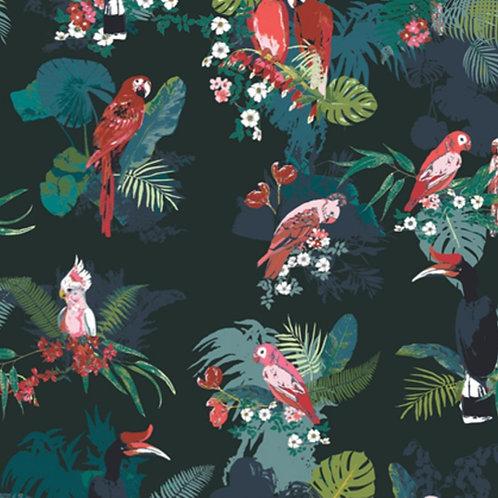 Boscage Parrot Grassland by Art Gallery Fabrics (£3.60fq / £14.40pm)