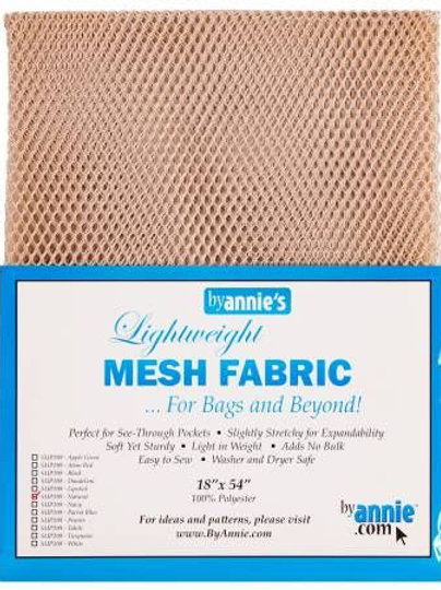 By Annie Mesh Fabric in Natural 1/2 Yard (18in x 54in) Package