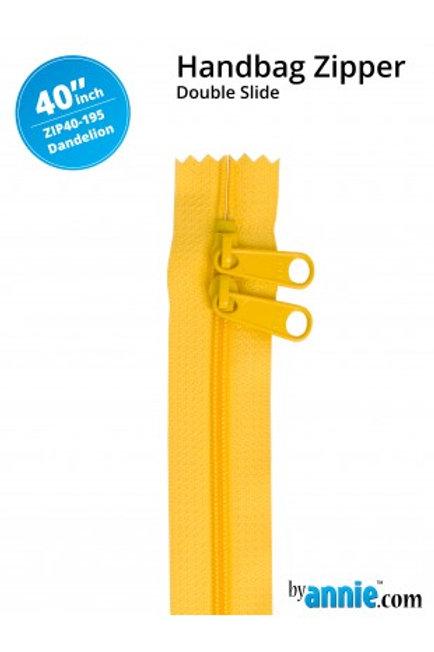 """40"""" Double Slide HandBag Zipper in Dandelion By Annie"""