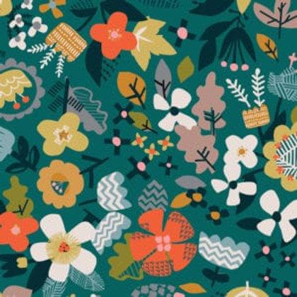Dashwood Studio Hibernate - Flowers on Green