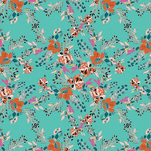 Virtuosa Designed by Art Gallery Fabrics - Episodic Blooms in Aqua