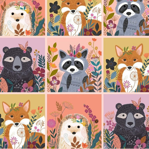 "*Pre-Order* Dashwood Studio Wild Animal Squares Panel 44"" x 44"" (110cm x 110cm)"