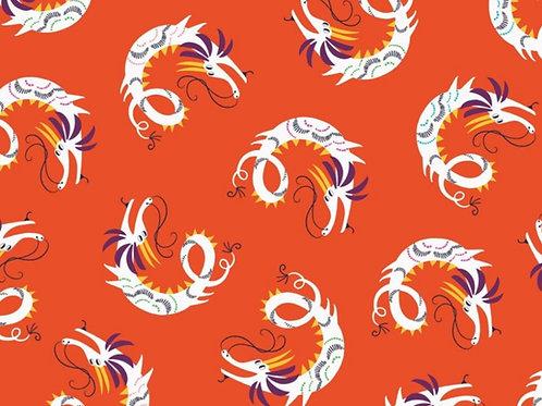 Dashwood Studio Silk Roads Dragons in Orange (£3.25fq/£13.00pm)