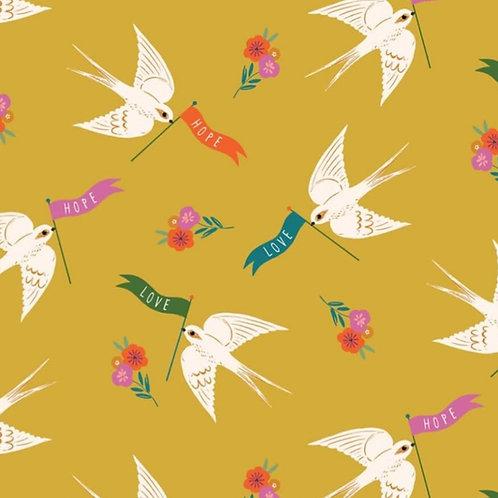 Dashwood Studio Good Vibes Banner Birds on Gold (£3.25fq/£13.00pm)