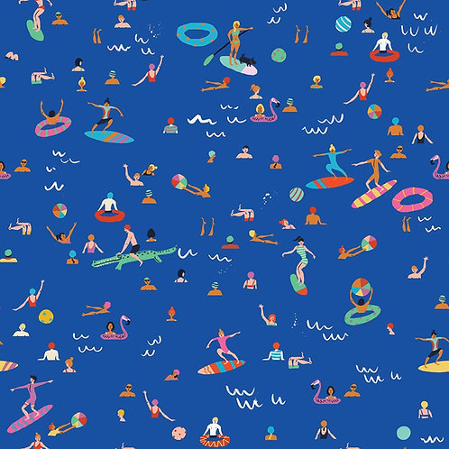 Dashwood Studio Lazy Days Surfers in Blue