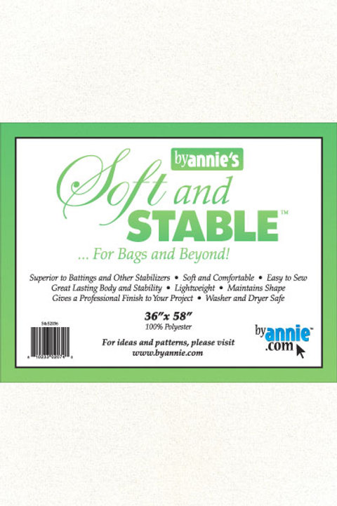 By Annie Soft and Stable 1 Yard Pack (36in x 58in) - White