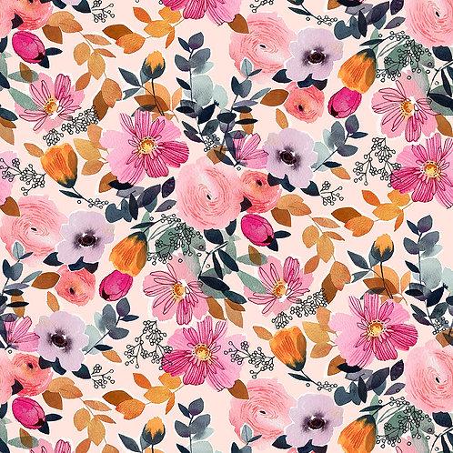 *Pre-Order* Dashwood Studio Flora Flowers in Off-White (sold per 1/2m)