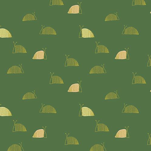 Dew & Moss by Art Gallery Fabrics - Moss Snail Mail