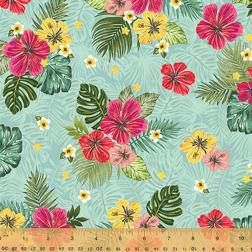 Isla from Windham Fabrics - Flowers in Blue