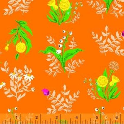 Windham Fabrics Bouquet in Orange - Heather Ross' 20th Anniversary