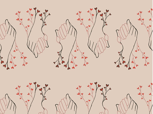 Better Together Open Heart by Art Gallery Fabrics (£3.60fq / £14.40pm)
