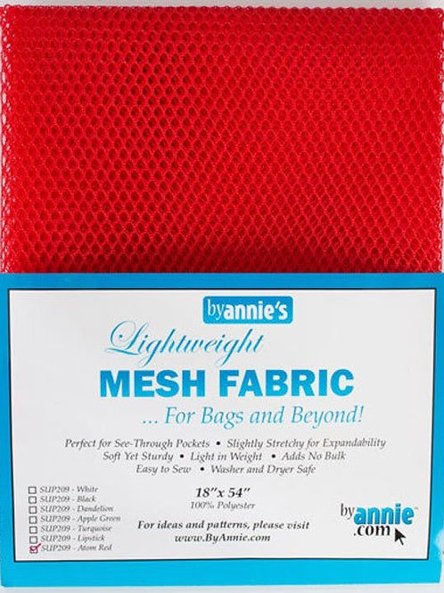 By Annie Mesh Fabric in Atom Red 1/2 yard (18in x 54in) Package