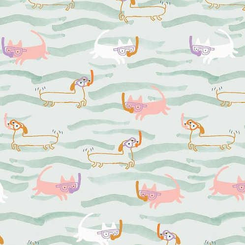 Dashwood Studios Under the Sea Snorkelling Cats & Dogs by Jilly P
