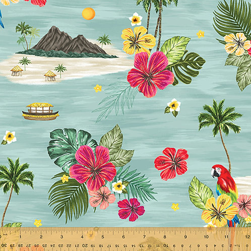 Isla from Windham Fabrics - Island in Blue