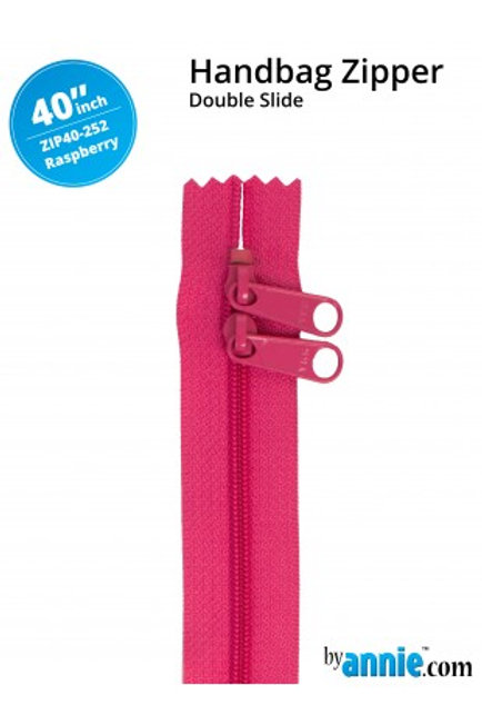 "40"" Double Slide HandBag Zipper in Raspberry By Annie"