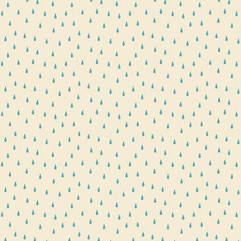 Figo Fabrics Off White Raindrops - Simple Pleasures (£3.75fq / £15.00pm)