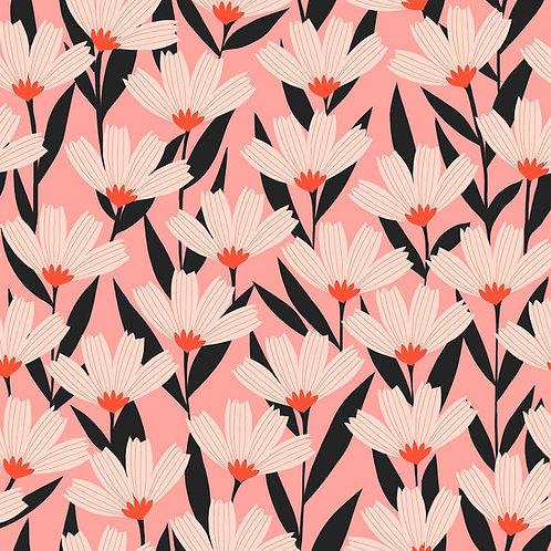 *Pre-Order* Dashwood Studio Bold & Bloom Flowers in Pink (sold per 1/2m)