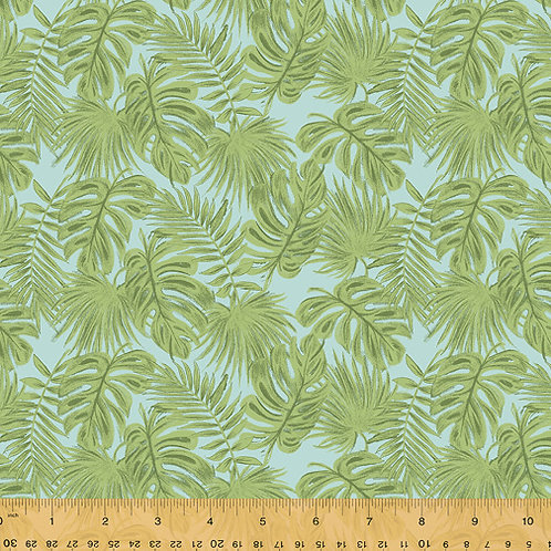 Isla from Windham Fabrics - Palm Leaves on Blue