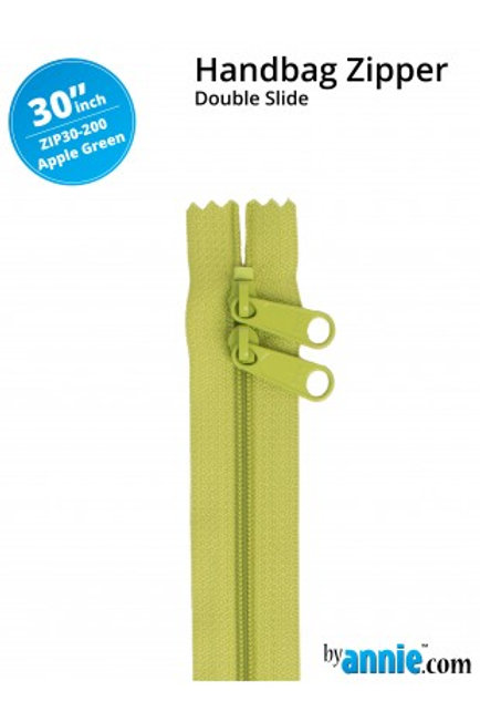 "30"" Double Slide HandBag Zipper in Apple Green By Annie"