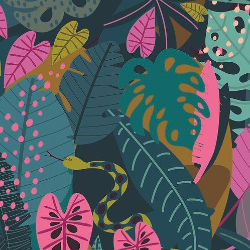 99cm Bolt End Dashwood Studios Night Jungle - Snakes & Leaves