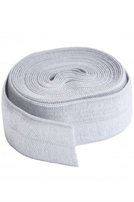 Fold-Over Elastic 20mm 2 Yard Package in Pewter By Annie