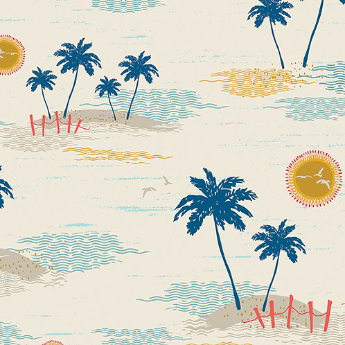 104cm Bolt End Art Gallery Fabrics Sun Kissed Palm Island Escape