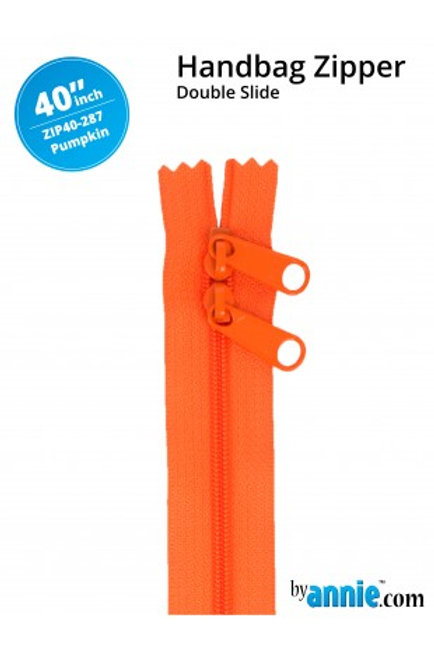 "40"" Double Slide HandBag Zipper in Pumpkin By Annie"