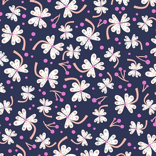 Dashwood Studios Lost Treasures - Blossoms Navy