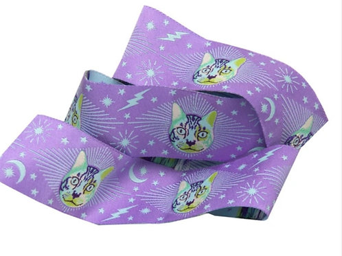 *PRE-ORDER* Cheshire Cat Purple 1 & 1/2in Ribbon by Tula Pink (Price Per Yard)