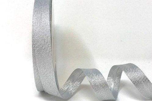 Silver Lame Metallic 18mm Bias Binding