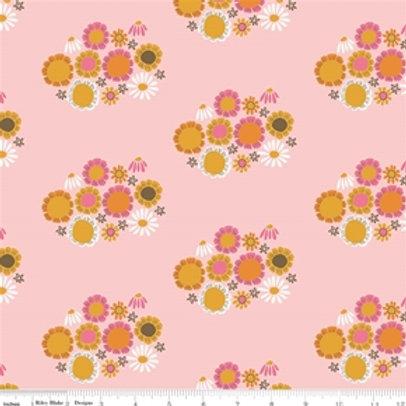 Riley Blake Guinevere - Pink Flowers