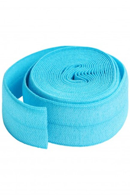 Fold-Over Elastic 20mm 2 Yard Package in Parrot Blue By Annie