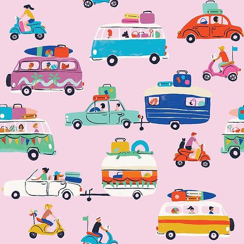 Dashwood Studio Lazy Days Campervans & Caravans in Pink