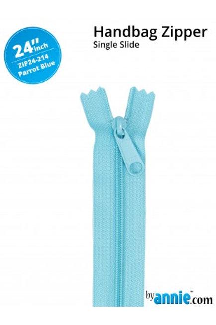 "24"" HandBag Zipper in Parrot Blue By Annie"