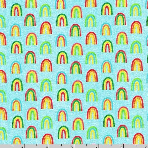 Robert Kaufman Chili Smiles Rainbows in Sky (£3.50 fq / £14.00 pm)