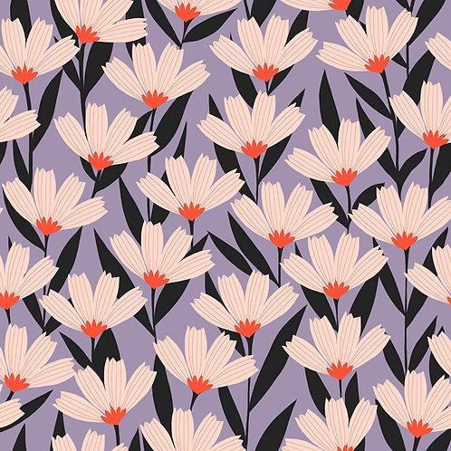 *Pre-Order* Dashwood Studio Bold & Bloom Flowers in Lilac (sold per 1/2m)