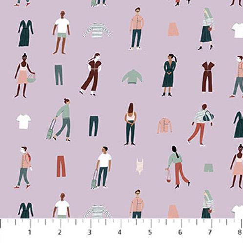 Figo Fabrics Away We Go by Yelena Bryksenkova - People in Lilac