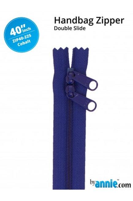 "40"" Double Slide HandBag Zipper in Cobalt By Annie"