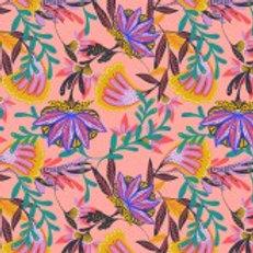 Craft Cotton Co Tropical Leopard - Tropical Flowers