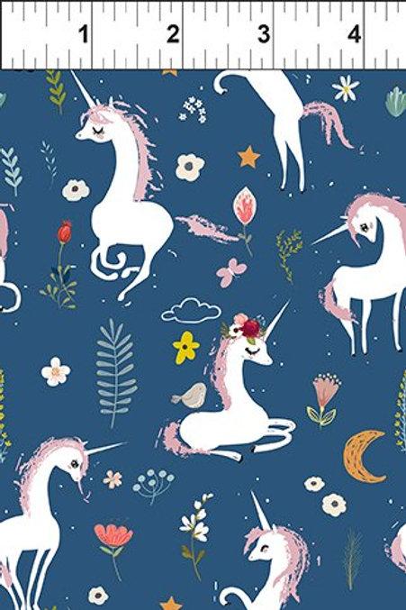 In The Beginning Unicorns in Blue from Mermaids & Unicorns