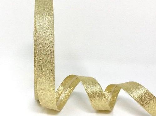 Gold Lame Metallic 18mm Bias Binding
