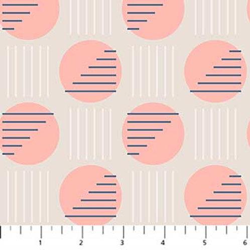 Figo Fabrics Sunkissed - Circles in Grey