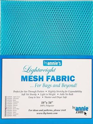 By Annie Mesh Fabric in Parrot Blue 1/2 Yard (18in x 54in) Package